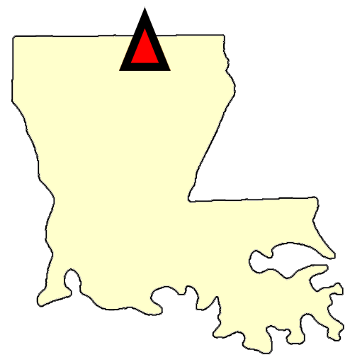 State map location for LA Monroe