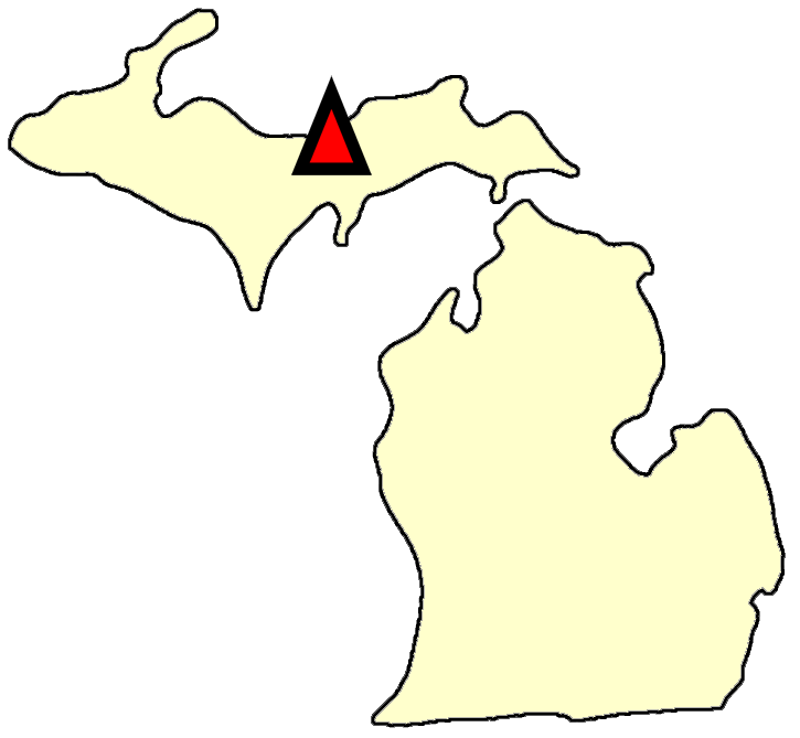 State map location for MI Chatham