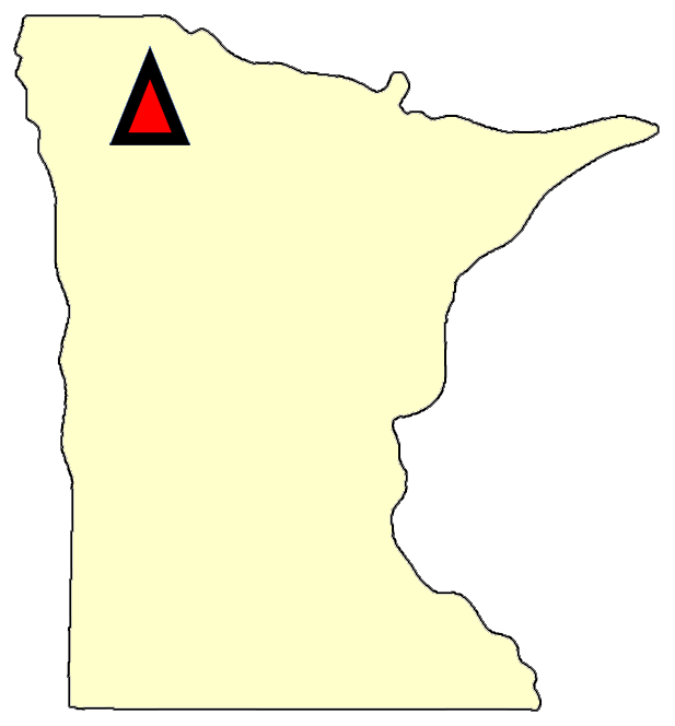 State map location for MN Goodridge