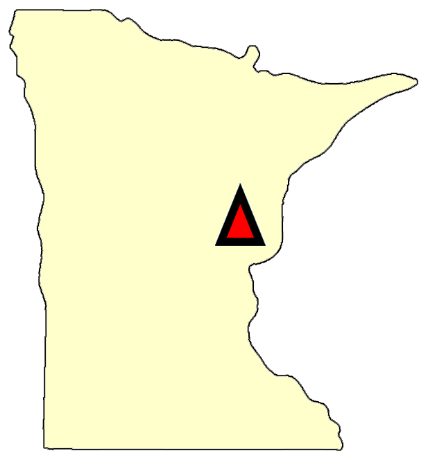 State map location for MN Sandstone