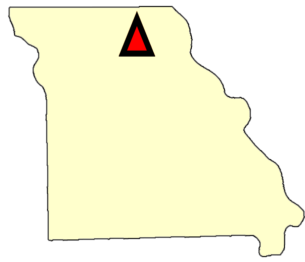 State map location for MO Chillicothe