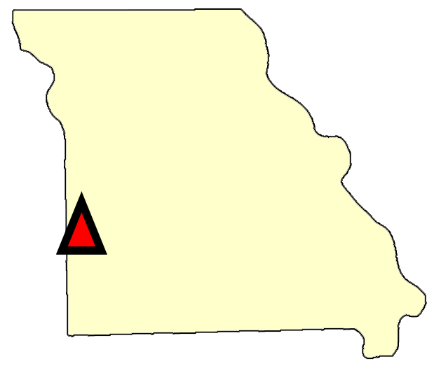 State map location for MO Joplin
