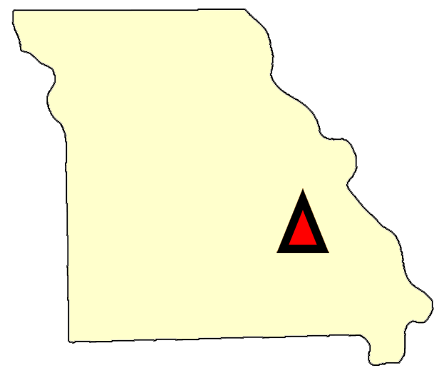 State map location for MO Salem