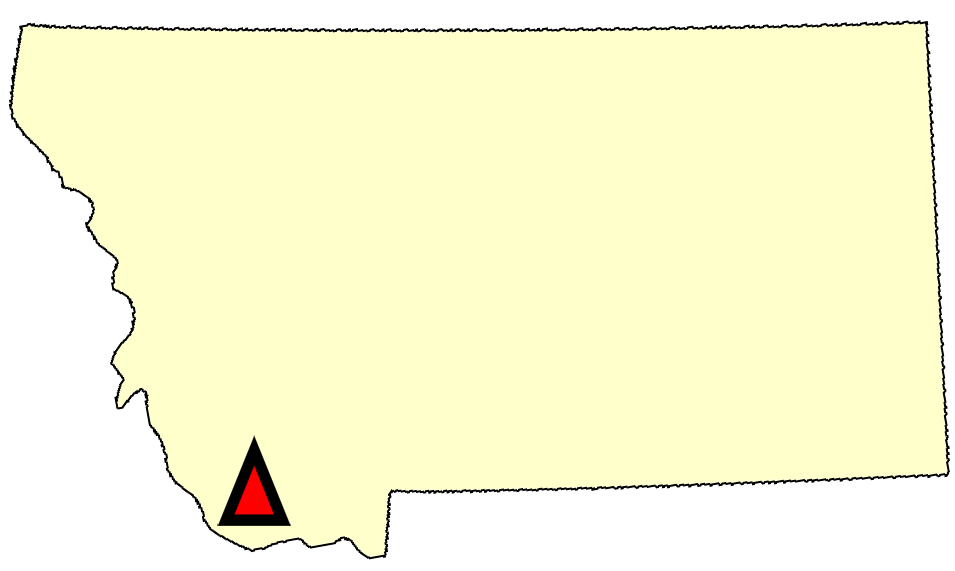 State map location for MT Dillon