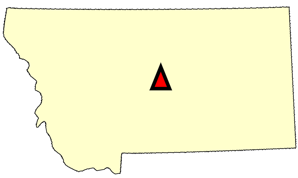 State map location for MT Lewistown