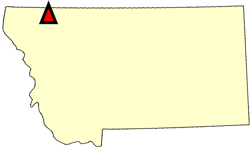 State map location for MT St. Mary