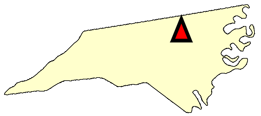 State map location for NC Durham