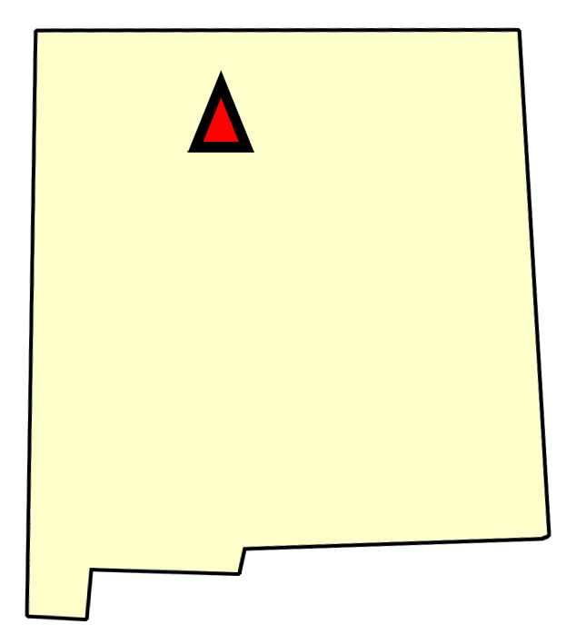 State map location for NM Los Alamos
