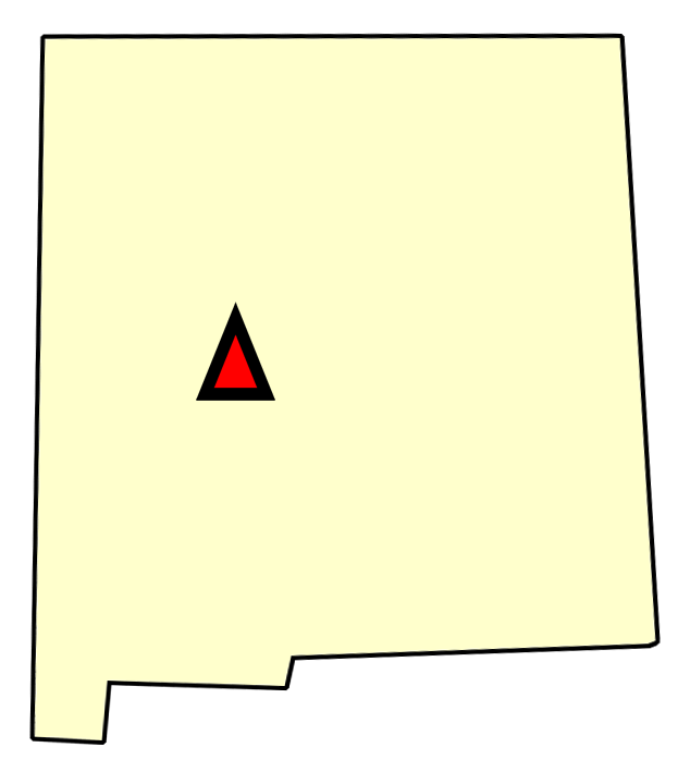 State map location for NM Socorro