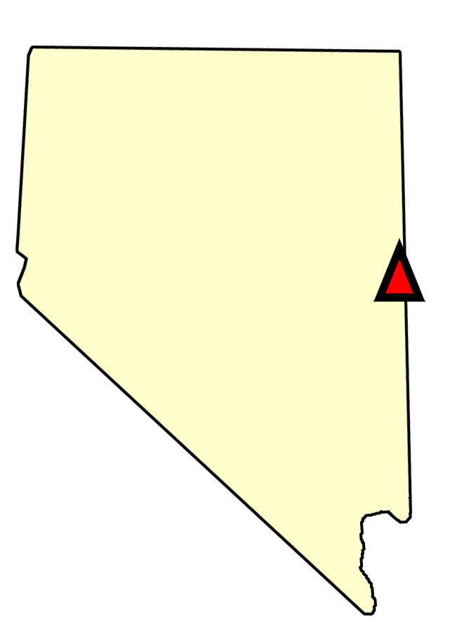 State map location for NV Baker