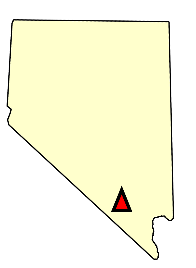 State map location for NV Mercury