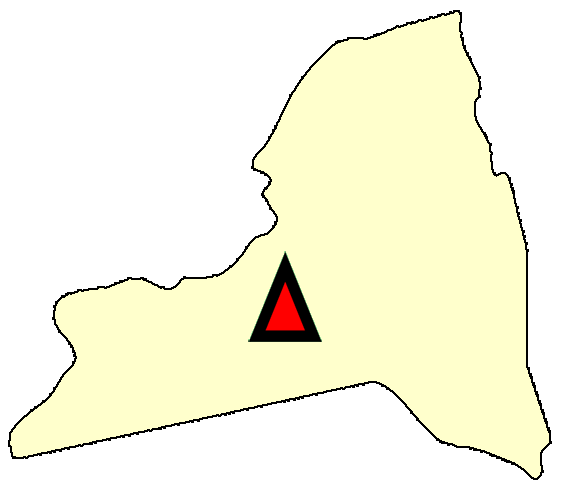 State map location for NY Ithaca