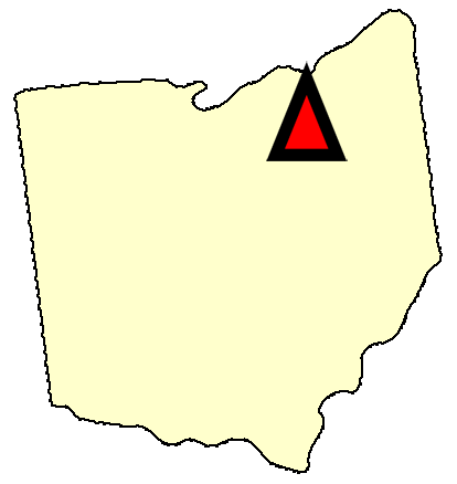 State map location for OH Wooster