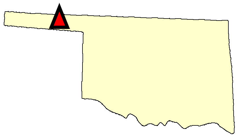 State map location for OK Goodwell 2 SE