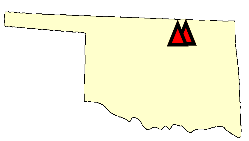 State map location for OK Stillwater sites