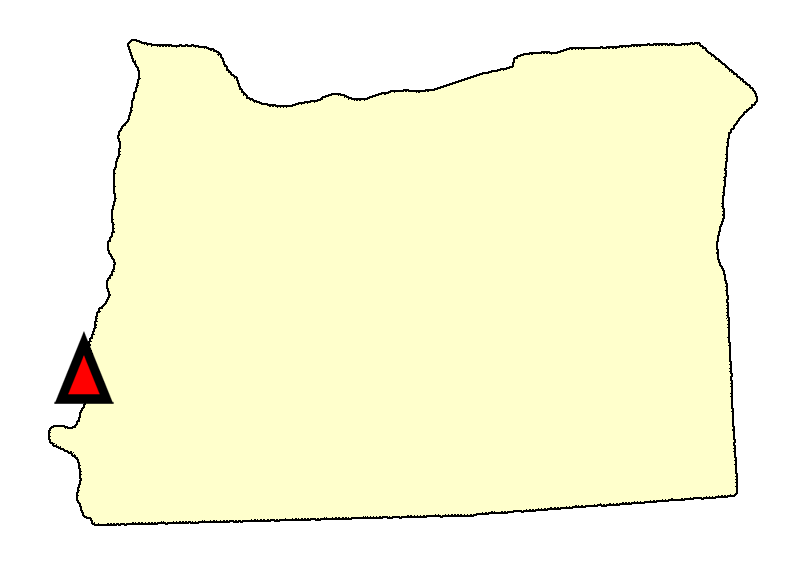 State map location for OR Coos Bay