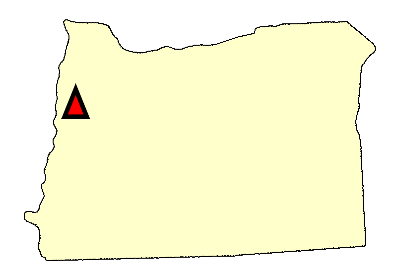 State map location for OR Corvallis