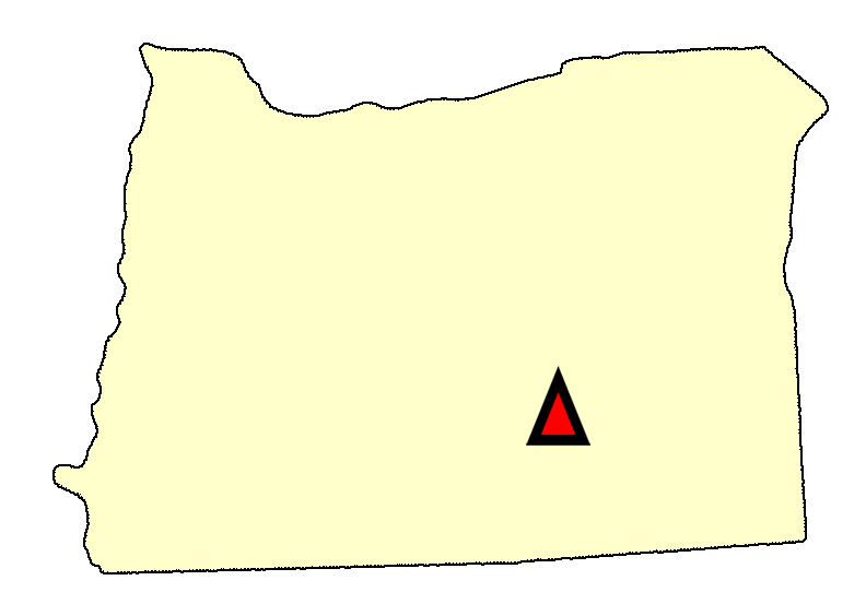 State map location for OR Riley