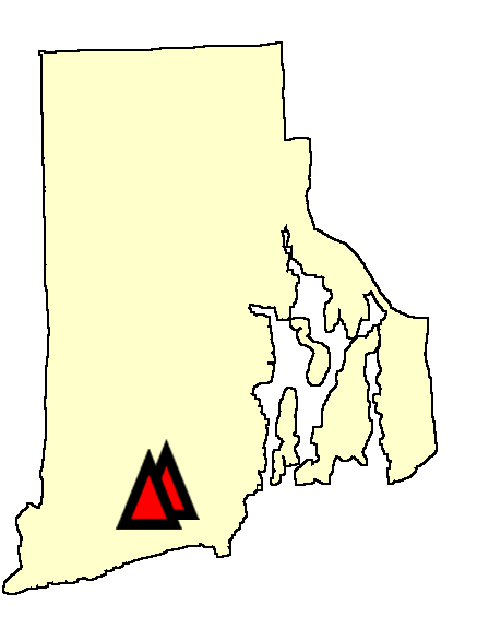 State map location for RI Kingston sites