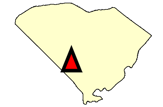 State map location for SC Blackville
