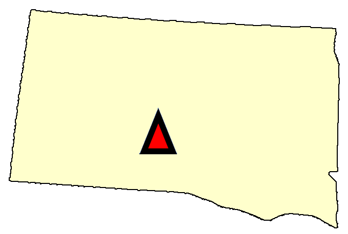 State map location for SD Pierre