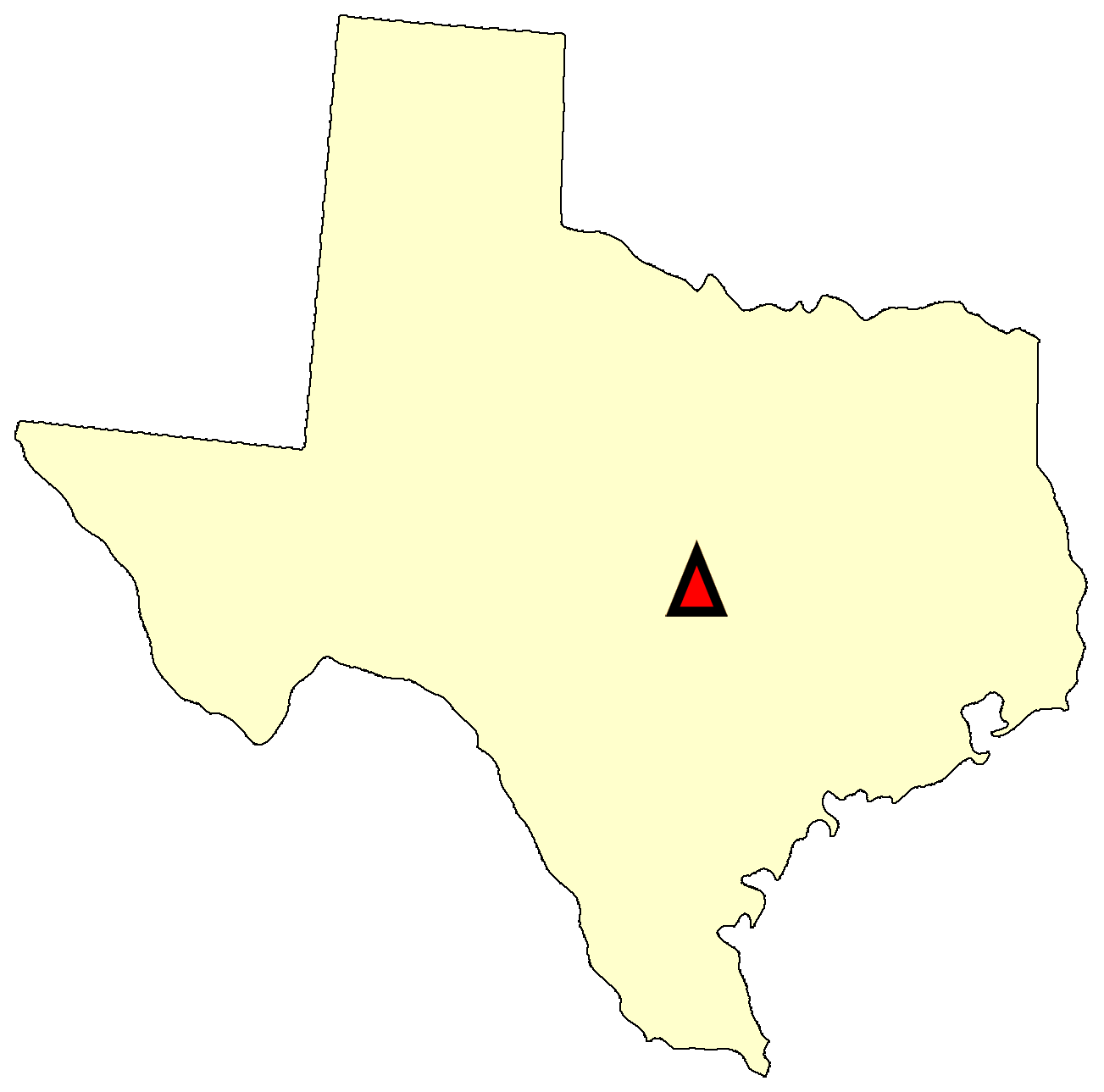 State map location for TX Austin