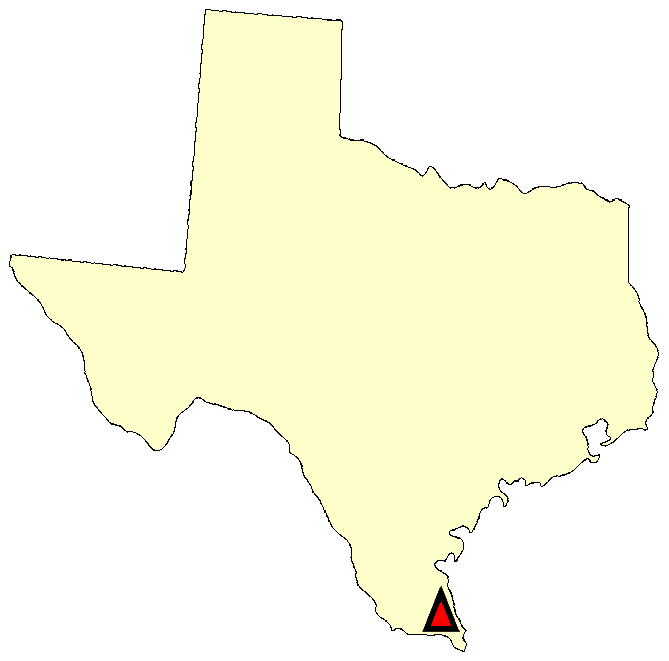 State map location for TX Edinburg