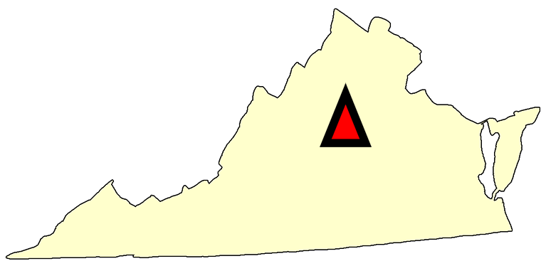 State map location for VA Charlottesville