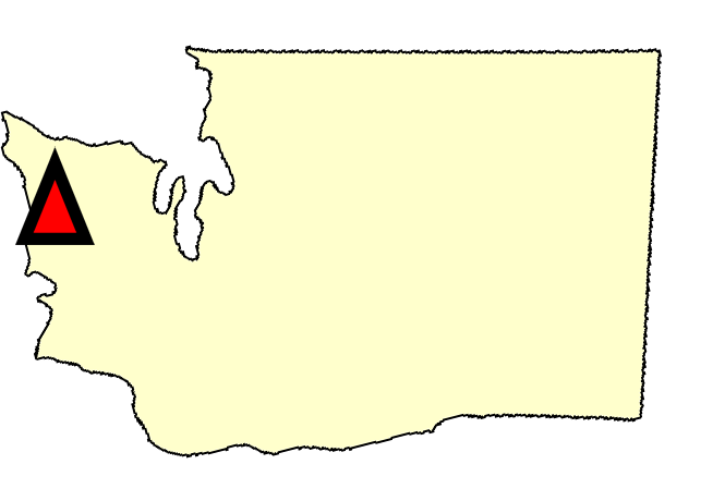 State map location for WA Quinault