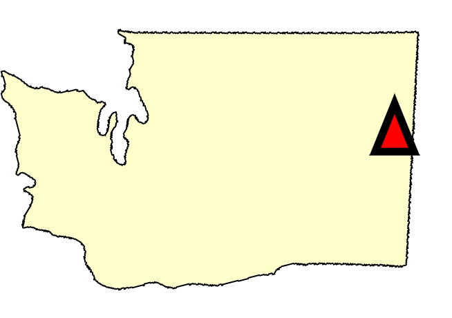 State map location for WA Spokane