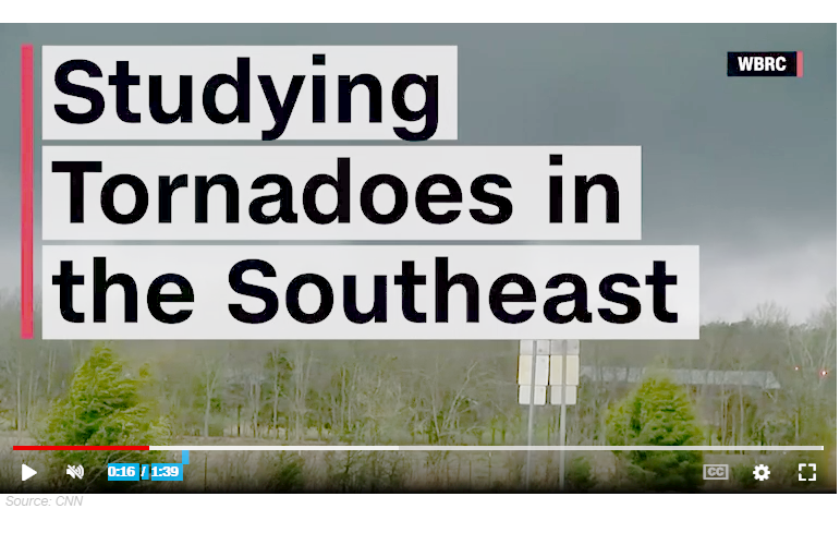CNN News Story about tonadoes in the southeast